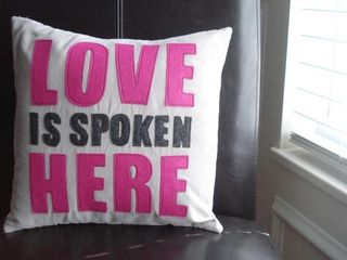 Loveisspokenherepillow