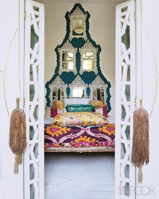 Moroccan eclectic bedroom